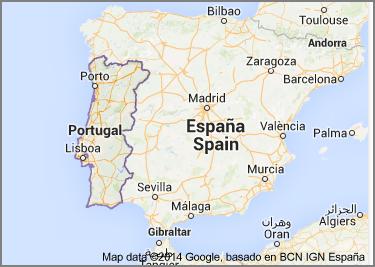 mapa Lisbony