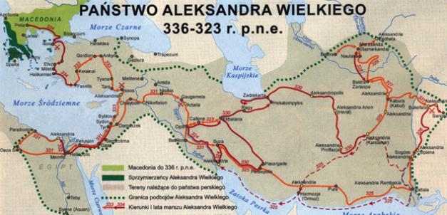mapa aleksandra