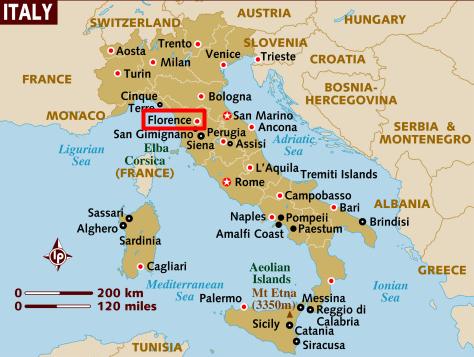 mapa italii